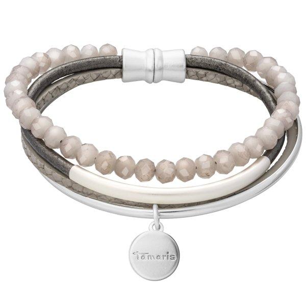 Tamaris Elly Armband silber/grau aus Metall und Kunststoff mit Magnetverschluss