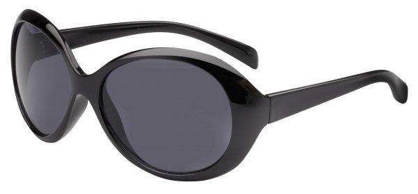 Sonnenbrille Riverside mit Kunststoffrahmen, schwarze Gläser