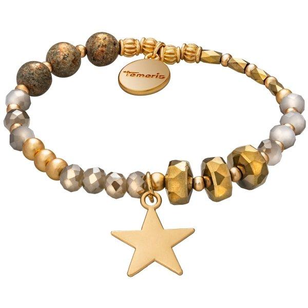 Tamaris Abby Armband gold mit Anhänger in Sternform und Zugband