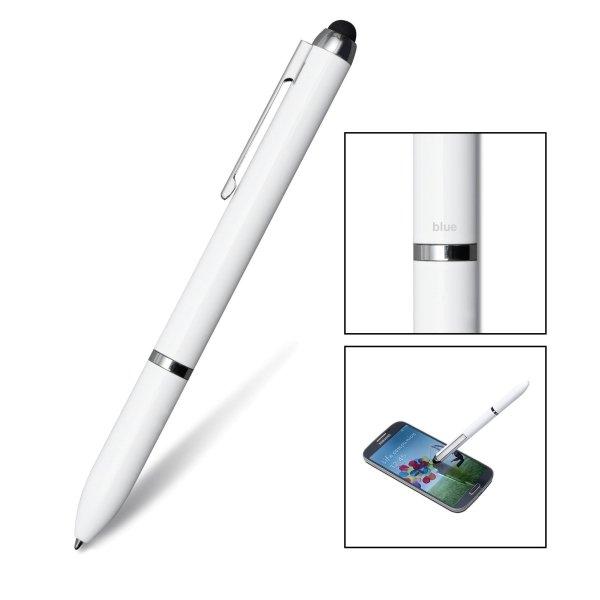 3-in-1 Stift CAIRO Kugelschreiber Mine blau und schwarz mit Eingabestift