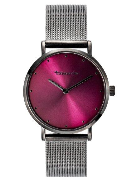 Tamaris ANDA Damenuhr Armbanduhr grau rot