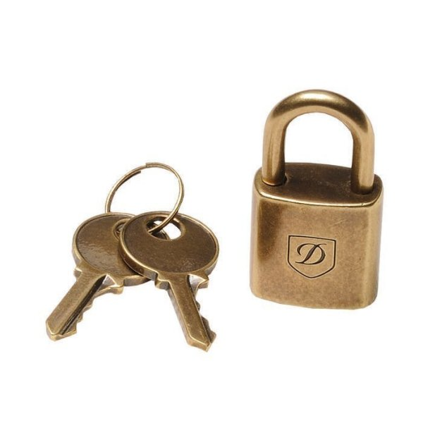 S.T. Dupont Kofferschloss /PADLOCK ICONIC OLD GOLD PVD