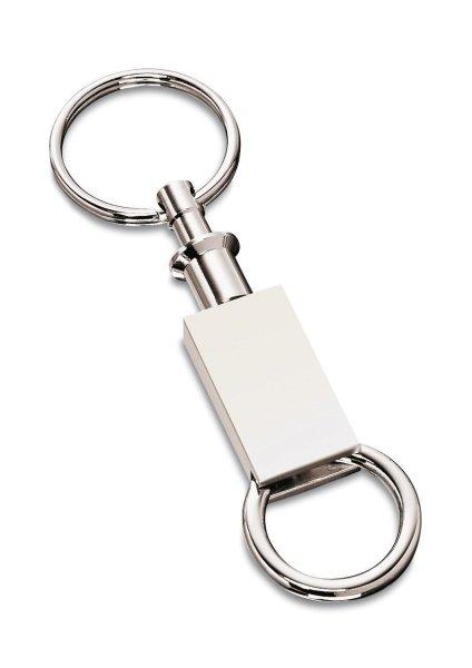 Schlüsselanhänger mit Gravur mit zwei Ringen