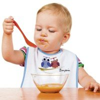 Baby lätzchen mit Fotodruck blau
