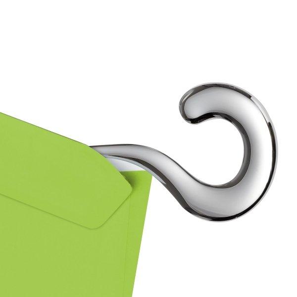 Briefbeschwerer mit Brieföffner aus Edelstahl in Fragezeichen Form
