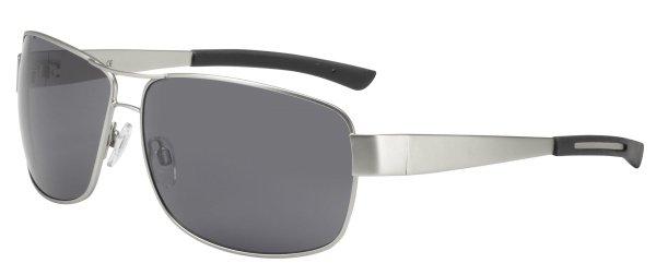 Sonnenbrille Manhatten mit Metallrahmen, schwarze Gläser