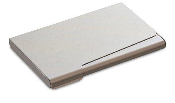 Kartenetui Visitenkartenbox aus Aluminium