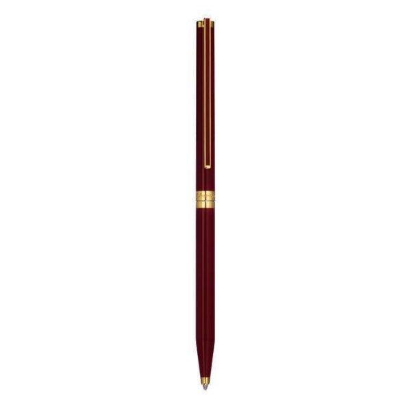 S.T. Dupont Kugelschreiber rot Chinalack & vergoldet