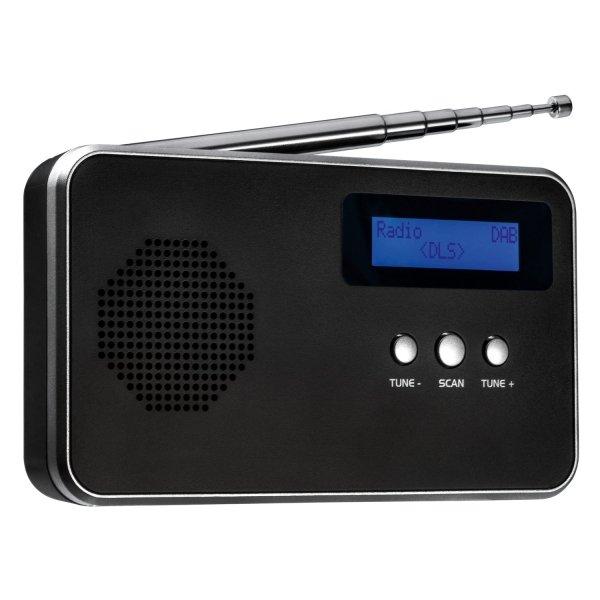 Tragbares Digitalradio FM / DAB+ REFLECTS-BARCELOS BLACK SILVER