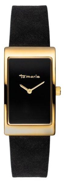 Tamaris Aila Damenuhr Armbanduhr schwarz gold