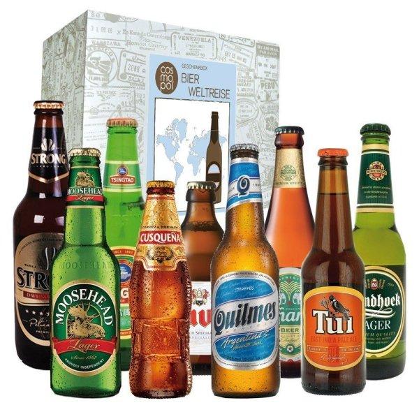 Bier Weltreise Geschenkbox als Weihnachtsgeschenk