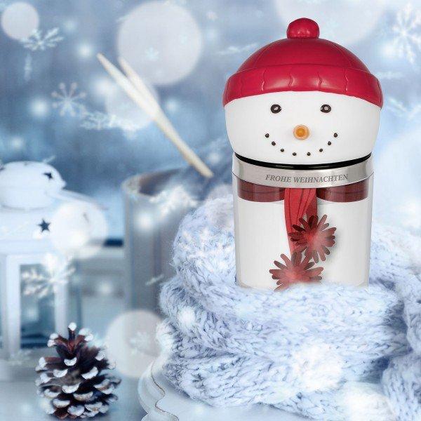 Becher Schneemann graviert mit Ihrem Namen