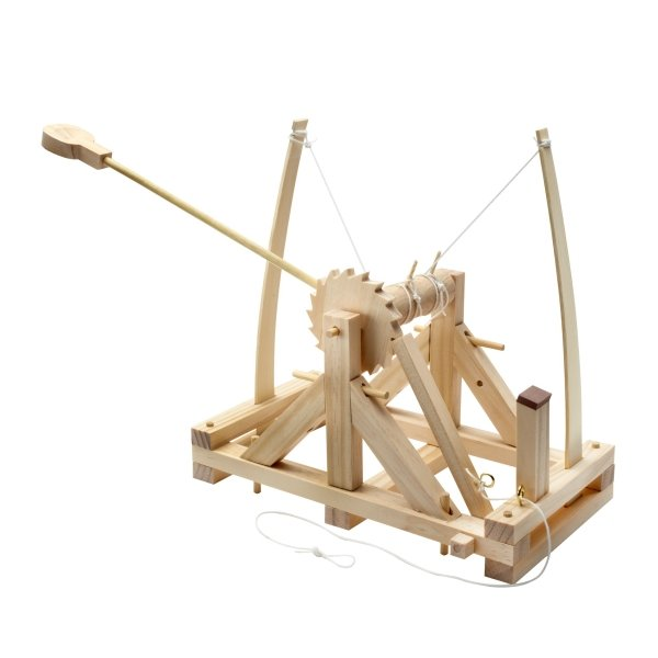 Modellbausatz Leonardo da Vinci Katapult Holzbausatz über 40 Teile mittelschwer