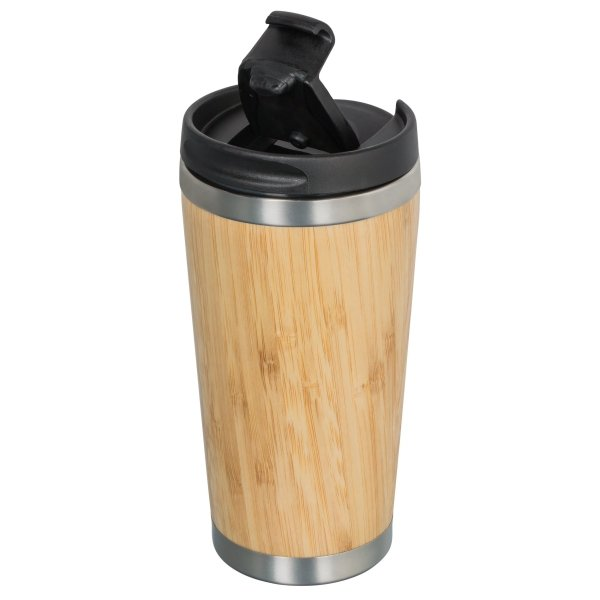 Coffee to Go Becher Bambus Isolierflasche 350ml