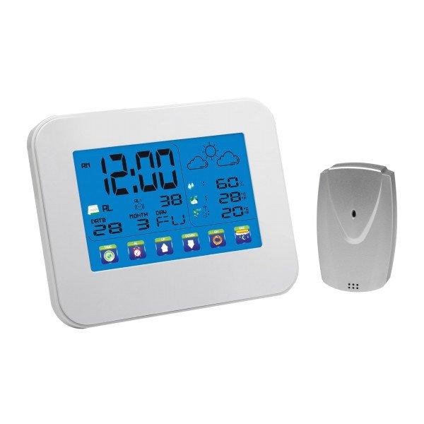 Wetterstation mit Touchscreen und Außensensor
