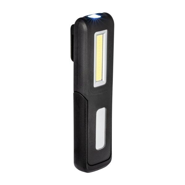Multifunktions-Taschenlampe mit 2 Leuchtflächen und eingebautem Akku