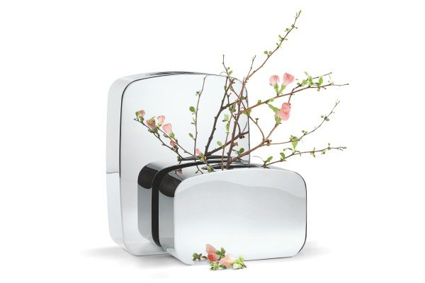 Salon Vase S aus Edelstahl