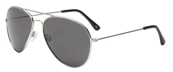 Sonnenbrille Dallas mit Metallrahmen, schwarze Gläser