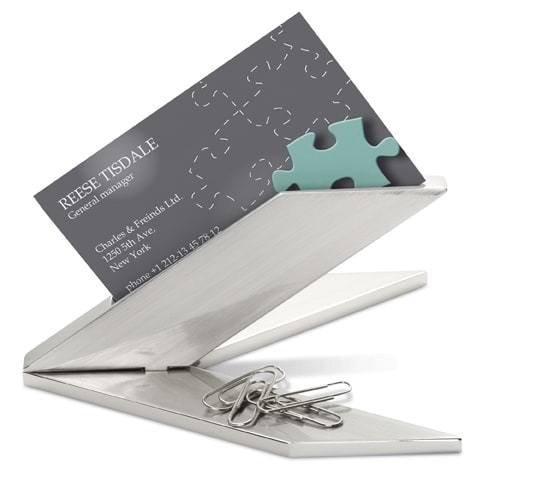 Visitenkartenständer für den Schreibtisch