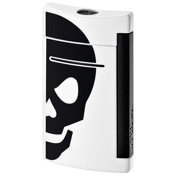 S.T. Dupont Feuerzeug Minijet schwarz skull