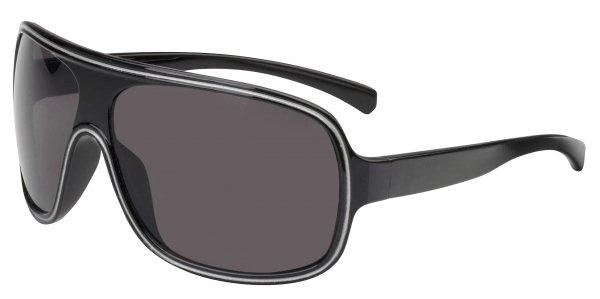 Sonnenbrille Tampa mit Kunststoffrahmen, schwarze Gläser