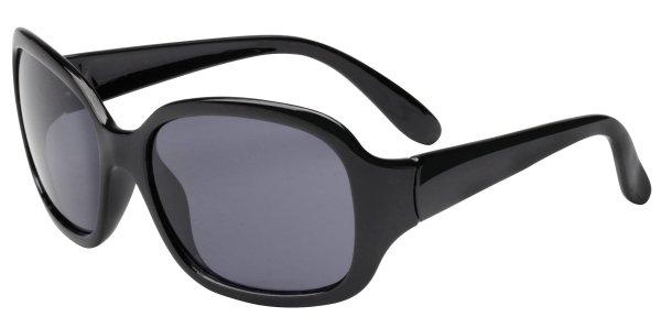 Sonnenbrille Virginia Beach mit Kunststoffrahmen, schwarze Gläser