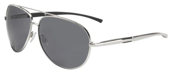 Sonnenbrille Detroit mit Metallrahmen, schwarze Gläser