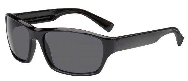 Sonnenbrille Indianapolis mit Kunststoffrahmen, schwarze Gläser