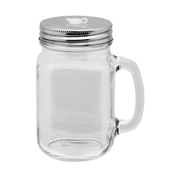 Glas Trinkbecher ohne Strohhalm mit Silikonöffnung 350ml