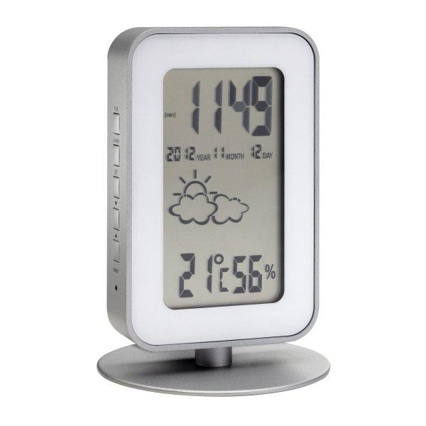 Wetterstation Funk mit Außensensor und Magnethalterung