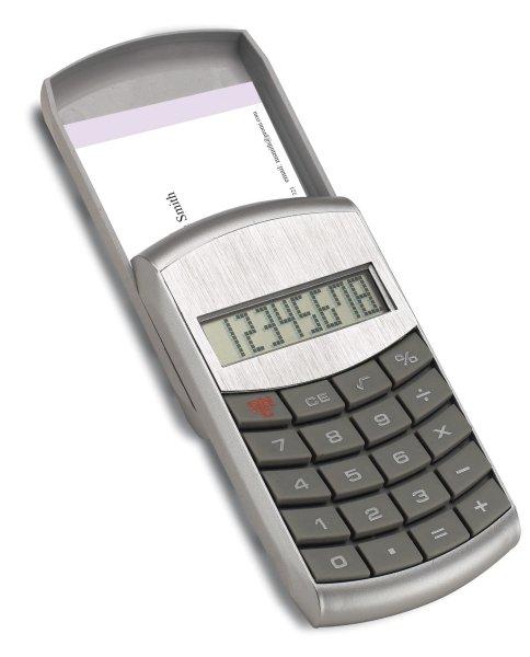Taschenrechner mit Visitenkartenetui SCHAAN
