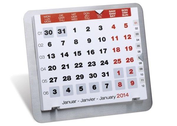 Schreibtischkalender mit Gravur COMILLA