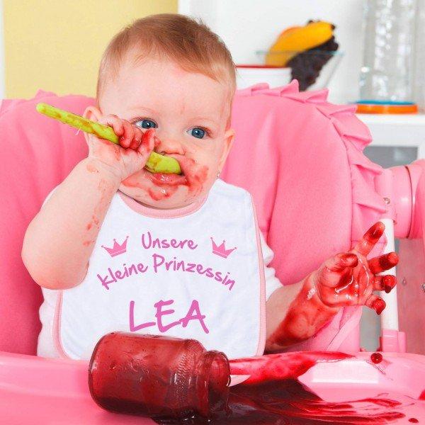 Baby lätzchen bedrucken rosa