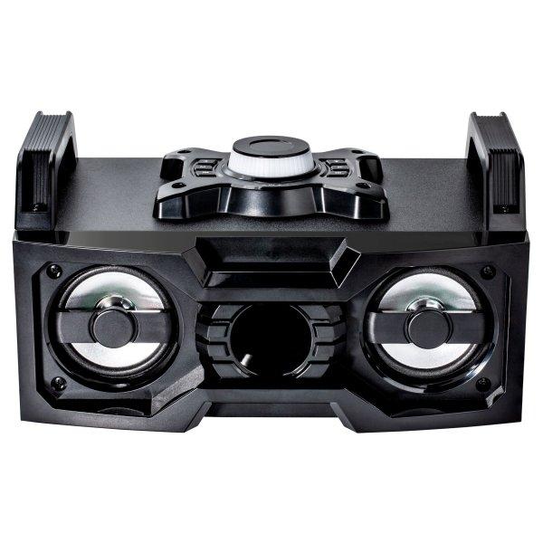 Bluetooth Lautsprecher mit Wechsellicht Boombox Ghettoblaster 2 x 5 Watt