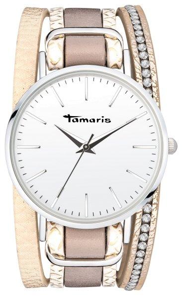 Tamaris Anna Armbanduhr Silber beige