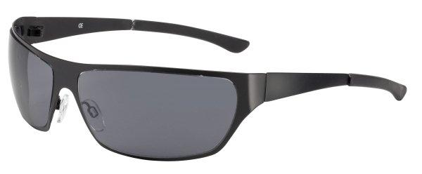 Sonnenbrille New York mit Metallrahmen, schwarze Gläser